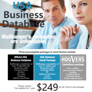 USA Business Database - Blueline Edition