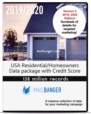 2019 USA homeowners database records