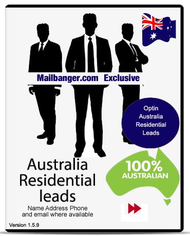 Australia marketing lists