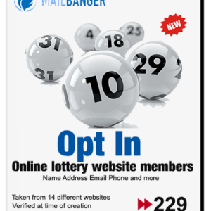 online lottery players leads