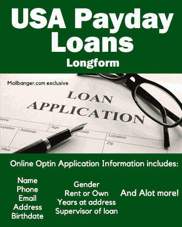 USA payday loans leads