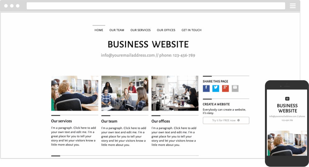 small business marketing and website content